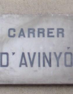 Carrer d'Avinyo