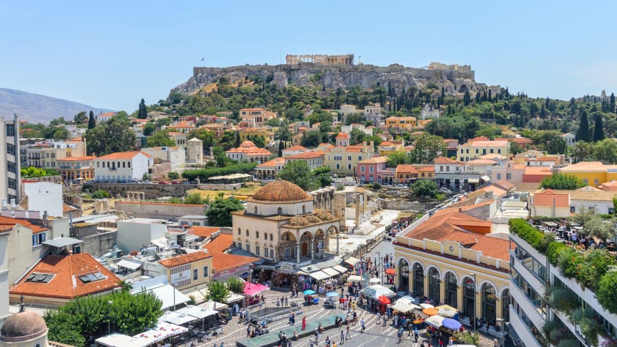 Waar kan ik gaan shoppen in Athene