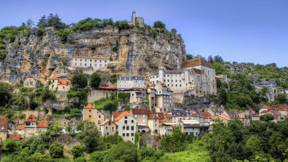 Wandel door de populaire bedevaartsstad Rocamadour
