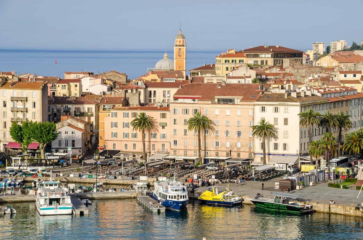 De baai van Ajaccio