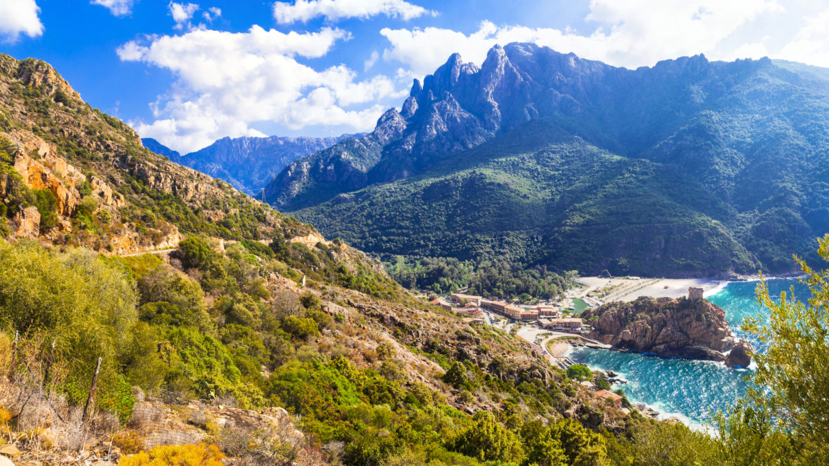 Corsica, Frankrijk in de Middellandse zee