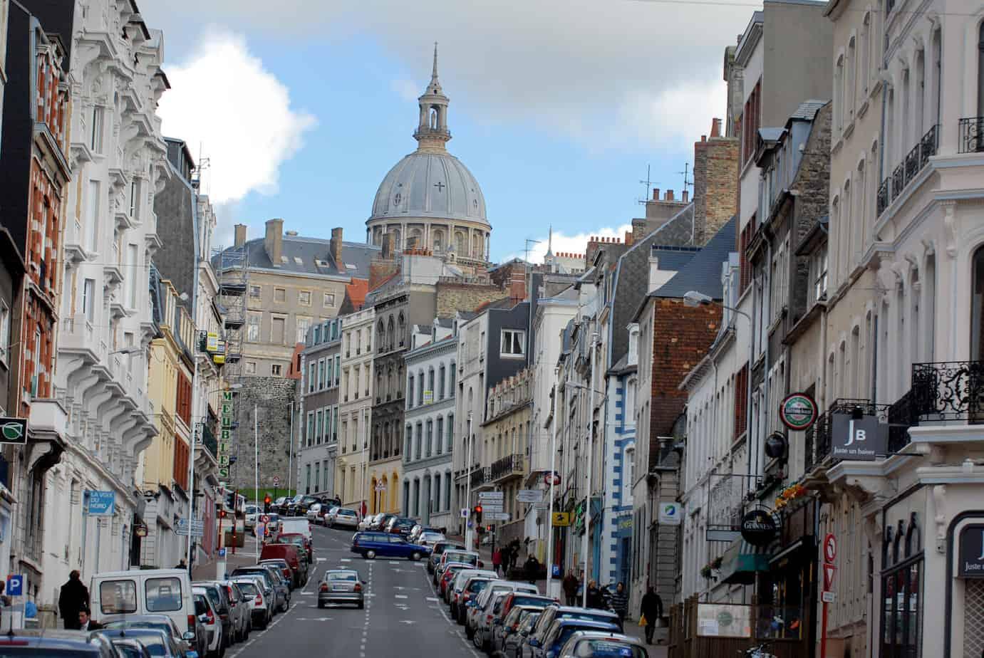 De straten van Boulogne-sur-Mer