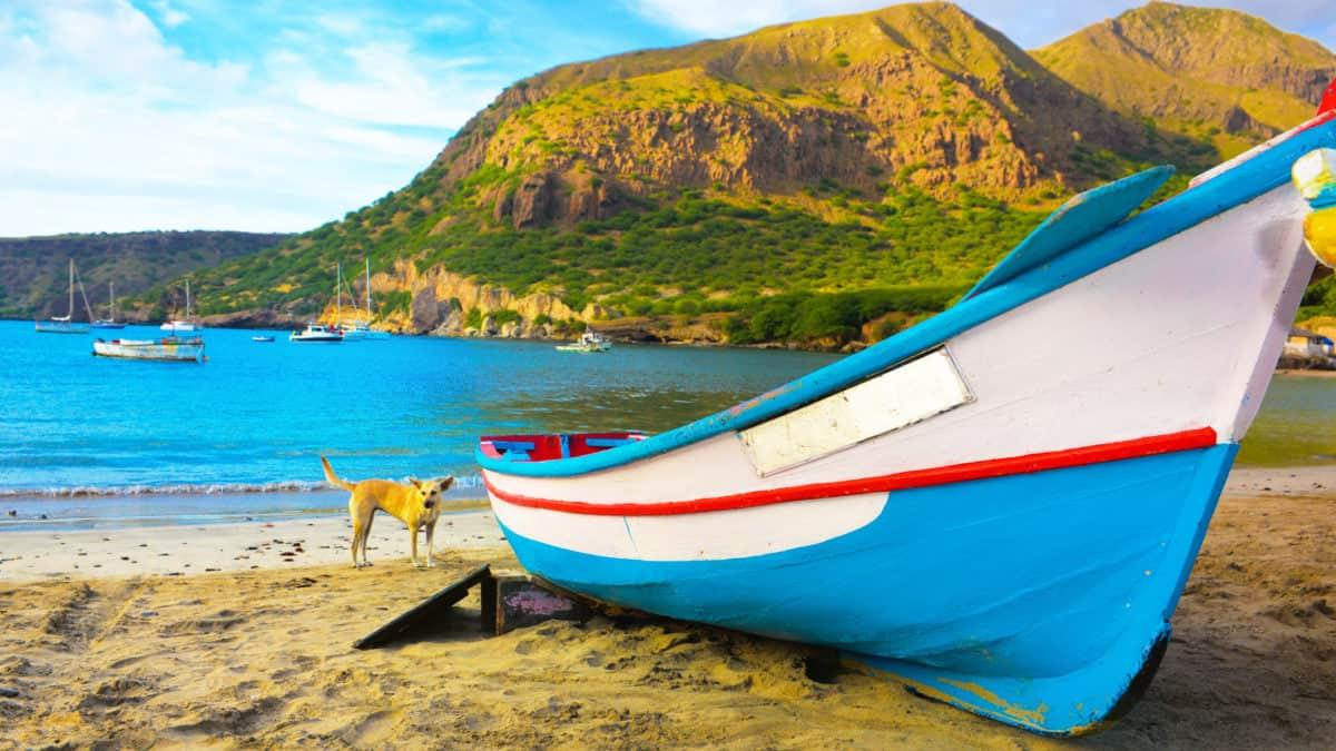 Droom weg op de Kaapverdische eilanden