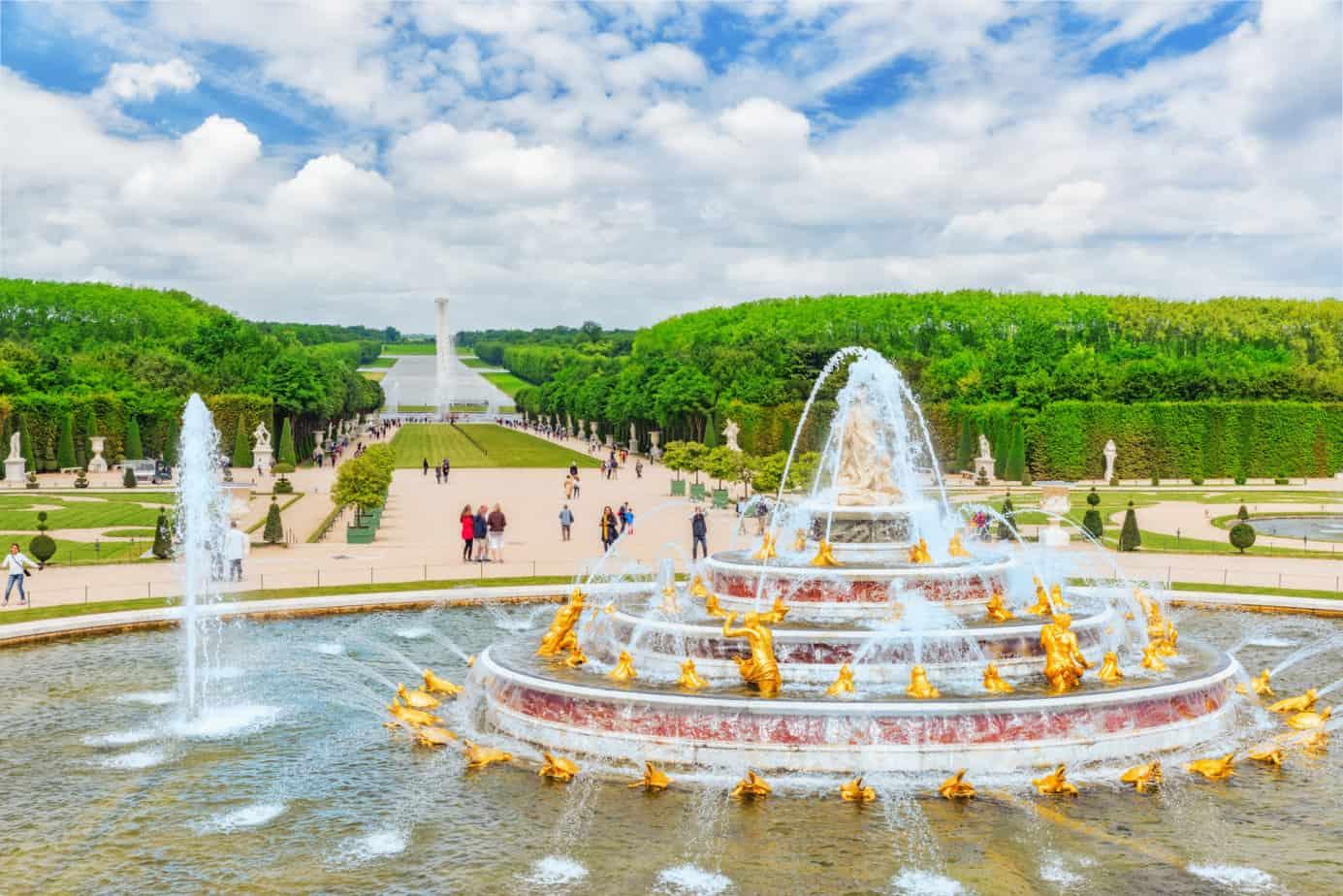 De tuinen in Versailles