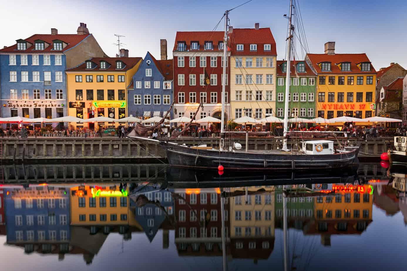 Nyhaven, Kopenhagen, Denemarken