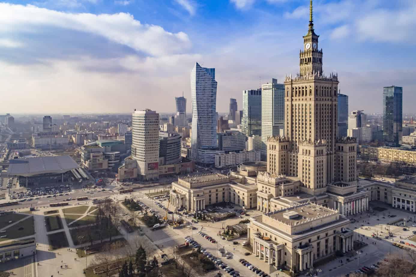 Binnenstad van Warschau, Polen