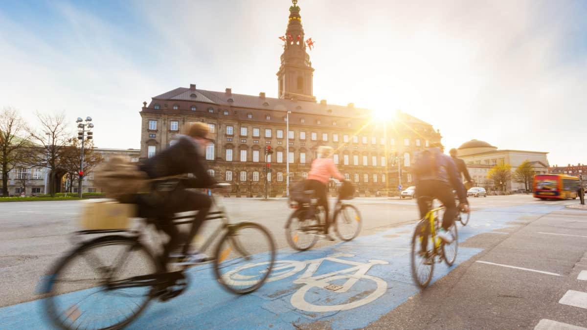 Een korte fietstour door Kopenhagen