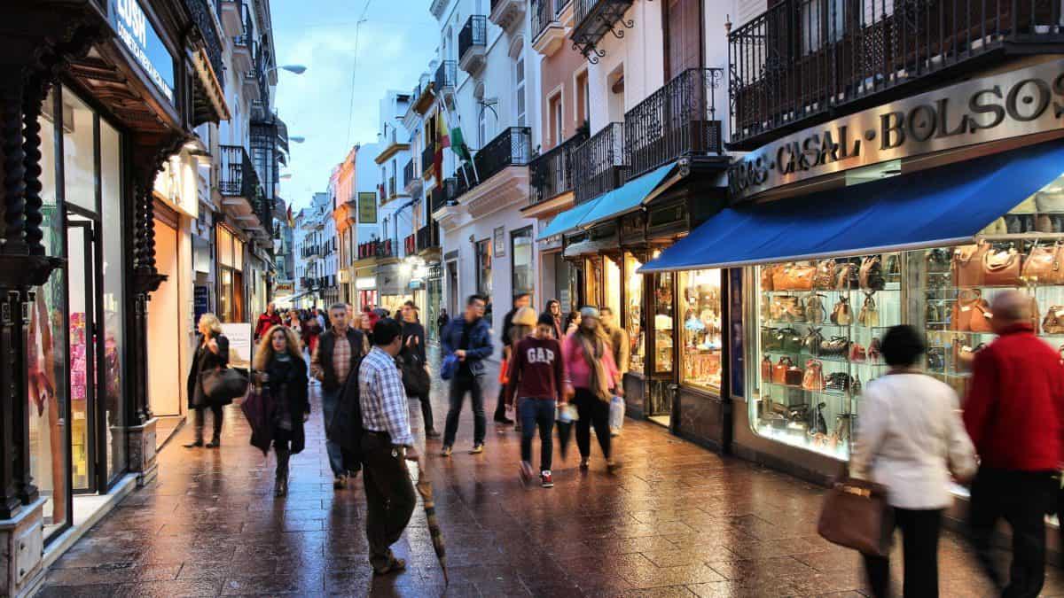 De meest bekende winkelstraten in Sevilla