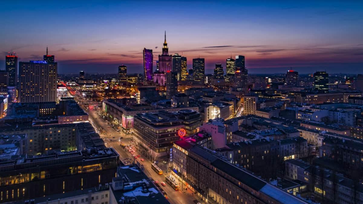 Warschau by night