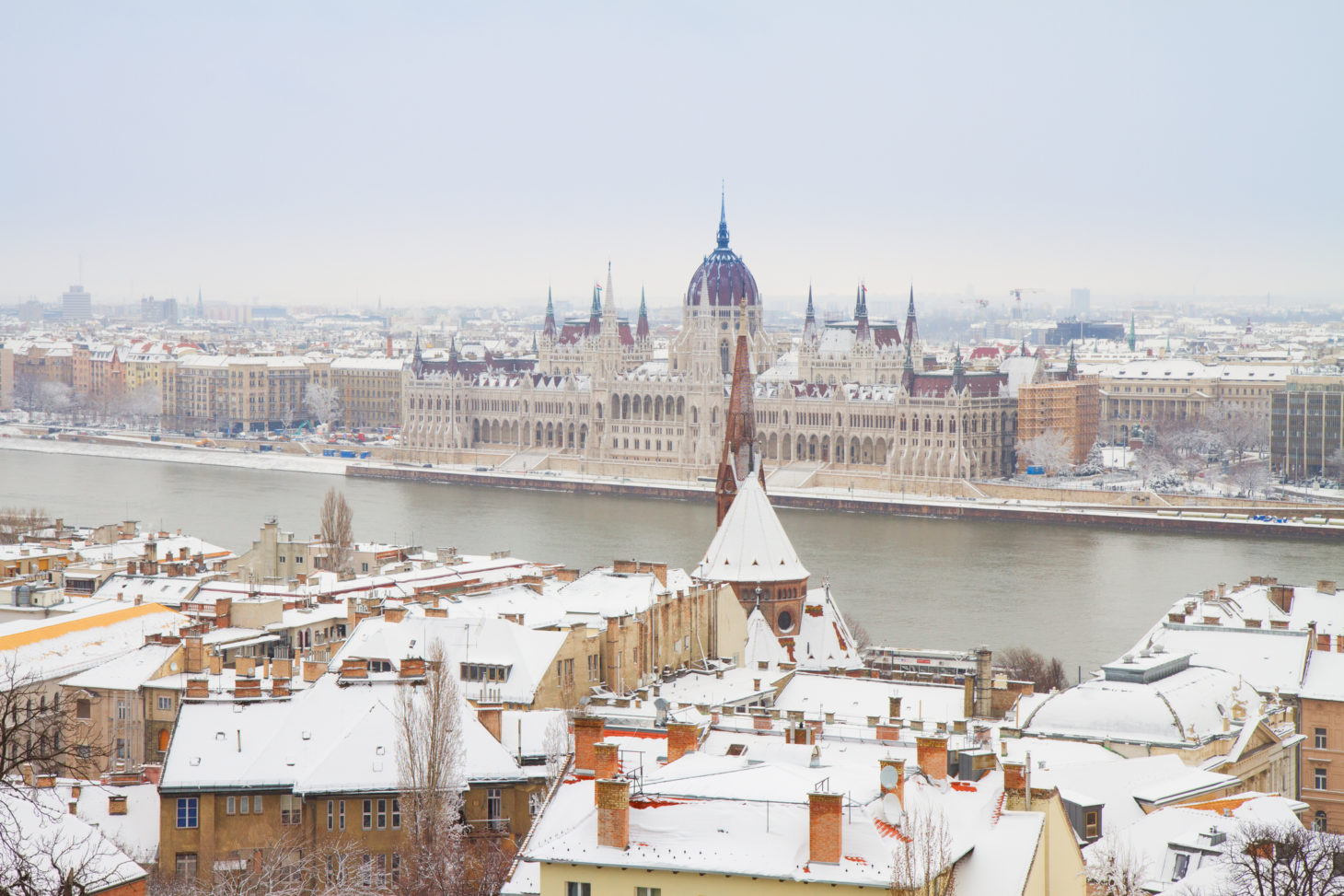 Boedapest winter